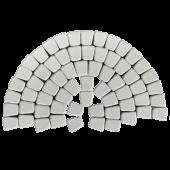 Тротуарная плитка Классико круговая, белый BRAER