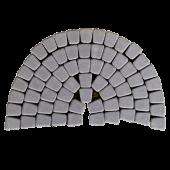 Тротуарная плитка Классико круговая, грифельный BRAER