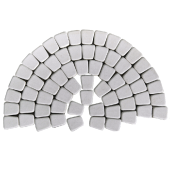 Тротуарная плитка Классико круговая, серебристый BRAER