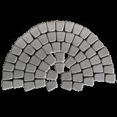 Тротуарная плитка Классико круговая, серый BRAER