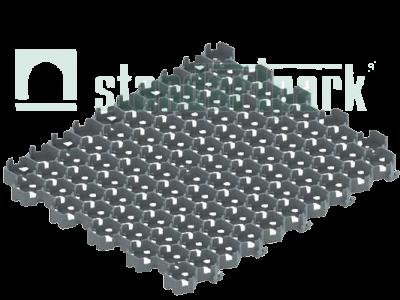 "Решетка газонная пластиковая серая ""Hexarm"", Стандартпарк"