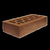 Кирпич облицовочный коричневый кора дуба 1 НФ ЛСР