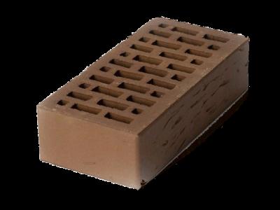 Кирпич облицовочный коричневый рустик 1 НФ ЛСР