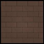 """Тротуарная плитка """"Прямоугольник Лайн"""" коричневый, гладкая Artstein"""