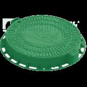Люк садовый пластиковый зелёный «Домик», Стандартпарк