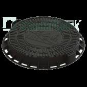 Люк садовый пластиковый черный «Домик», Стандартпарк