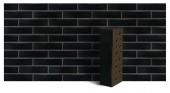 """Клинкер фасадный чёрный глянцевый """"Рейкьявик"""" с гладкой поверхностью 0.7НФ"""