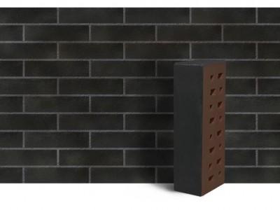 """Клинкер фасадный чёрный матовый """"Рейкьявик"""" с гладкой поверхностью 0.7НФ"""