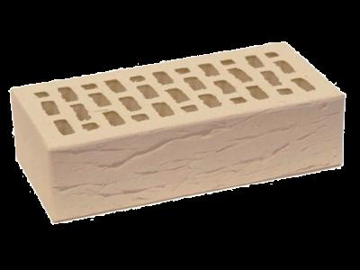 Кирпич облицовочный слоновая кость рустик 1 НФ ЛСР