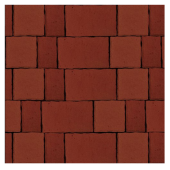 Тротуарная плитка Старый город красный, гладкая, Artstein