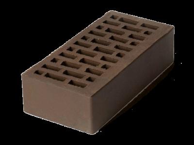 Кирпич облицовочный темно-коричневый гладкий 1 НФ ЛСР