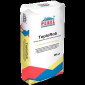 Легкая цементно-известковая штукатурка TeploRob, арт 0518, Perel, 20 кг