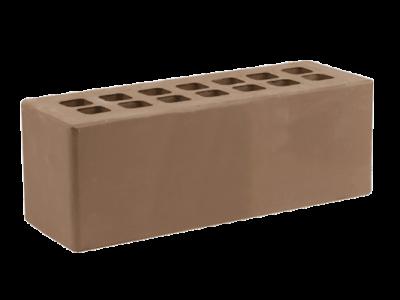 Кирпич облицовочный тёмно-коричневый Гладкий, ЖКЗ